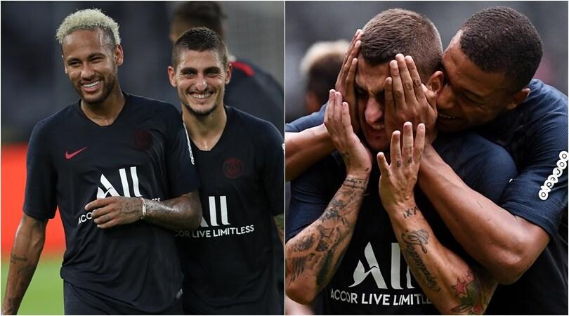 Psg, Verratti show in mezzo a Mbappé e Neymar