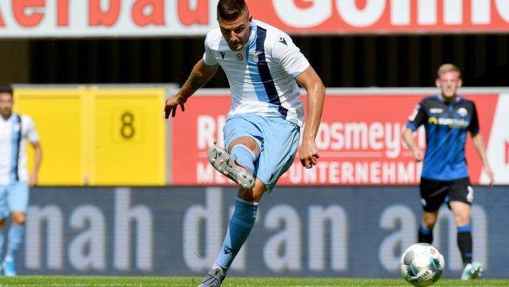 Lazio-Al Shabab 5-1, Milinkovic Savic finisce ko