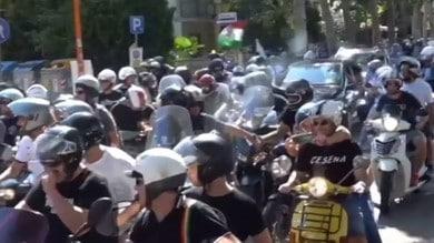Tifosi del Cesena, 40 km su due ruote per il derby con il Rimini VIDEO