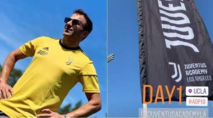 Del Piero alla Juve Academy: è di nuovo in bianconero