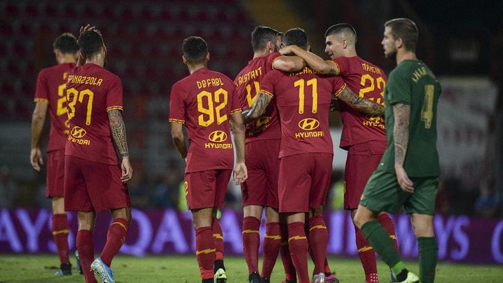 Roma, solo 2-2 con l'Athletic Bilbao. A segno Kolarov e Pellegrini