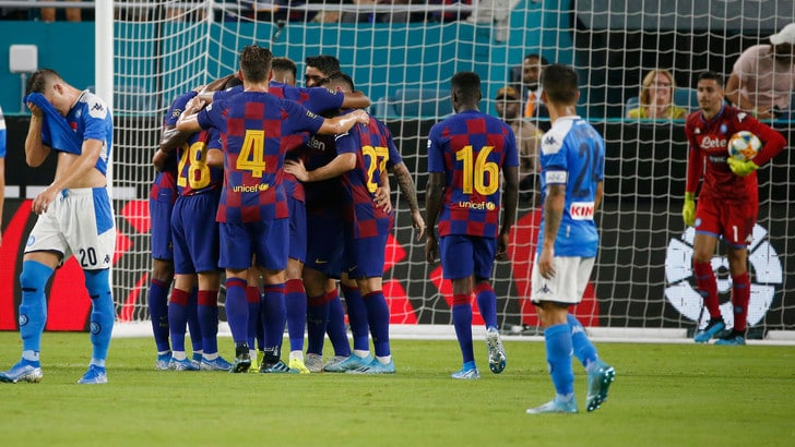 Napoli, tutto facile per il Barcellona: partenopei sconfitti 0-4