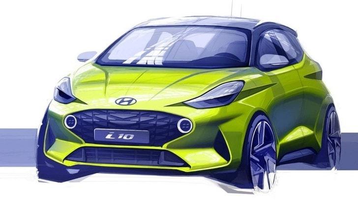 Hyundai svela il primo bozzetto della sua Nuova i10