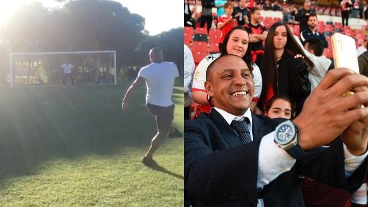 Roberto Carlos, che gol a Vitor Baia!