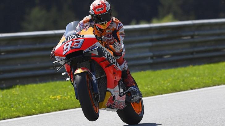 Gp Austria: Marquez il più veloce nelle libere 3, Valentino Rossi 6°