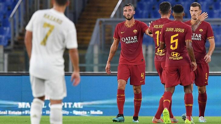 La Roma batte il Real Madrid ai rigori e vince la Mabel Green Cup