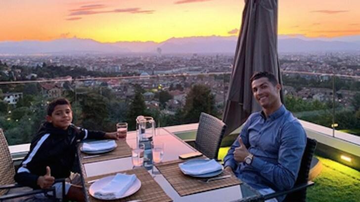 Cristiano e Cristianinho: la Juve, Torino e nel menù i gol