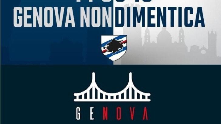 Ponte Morandi, un anno dopo: Genoa e Samp ricordano la tragedia