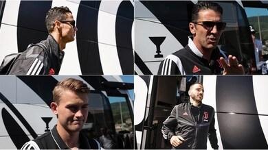 La Juve arriva a Villar Perosa: tifosi in delirio