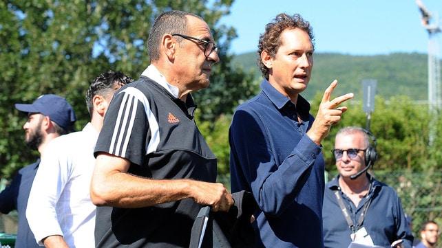 Villar Perosa, Sarri e John Elkann a colloquio