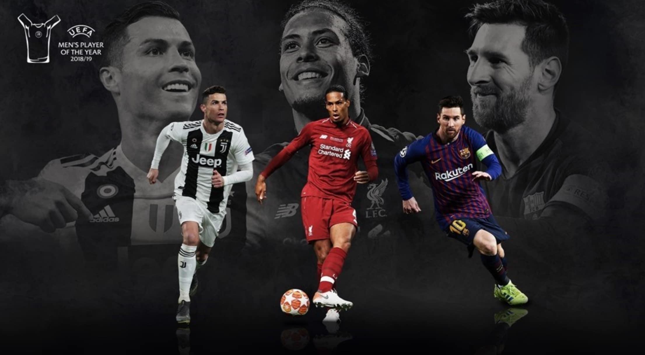 Calciatore dell'anno Uefa: in lizza Ronaldo, Messi e Van Dijk