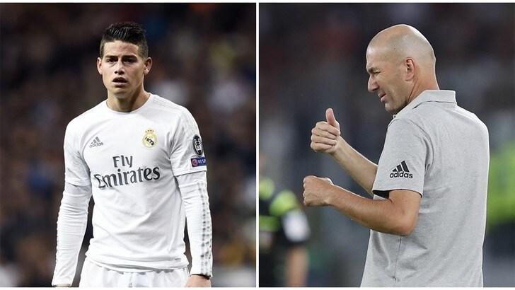 Napoli, James Rodriguez convocato da Zidane: