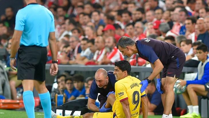 Barcellona, tegola Suarez: infortunio contro l'Athletic