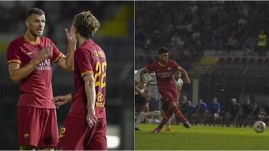 Roma: Perotti, Dzeko e Kluivert firmano il 3-1 contro l'Arezzo