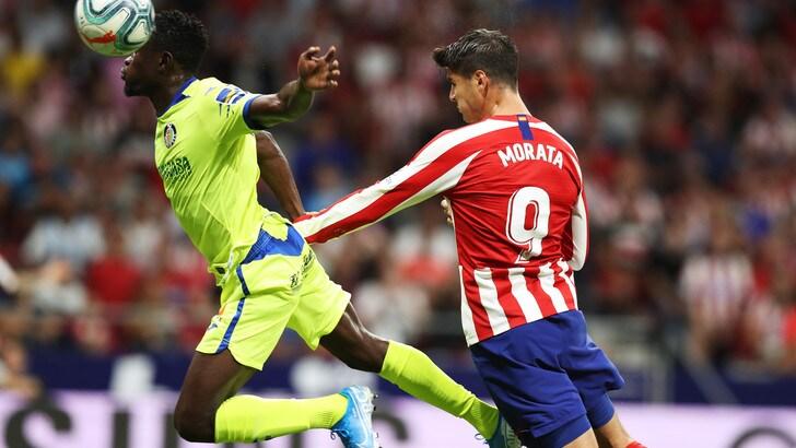 Atletico Madrid-Getafe 1-0: Simeone ringrazia Morata