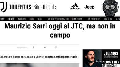 Juve, Sarri a rischio per Parma: ha la polmonite