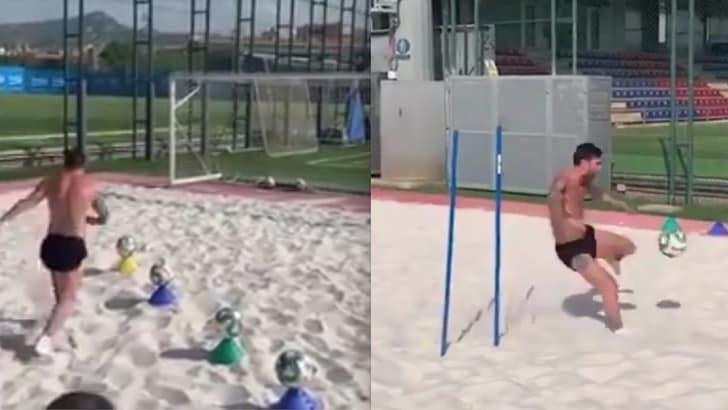 Messi bionico sulla sabbia: il recupero del genio