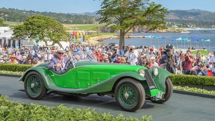 Maserati V4 Zagato Spider a Pebble Beach: è premio speciale