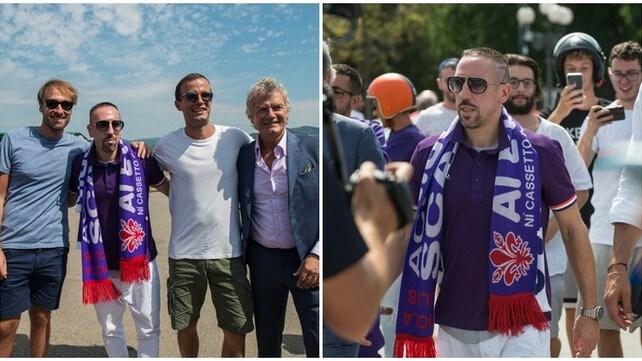 Arriva Ribery, Firenze esplode di gioia