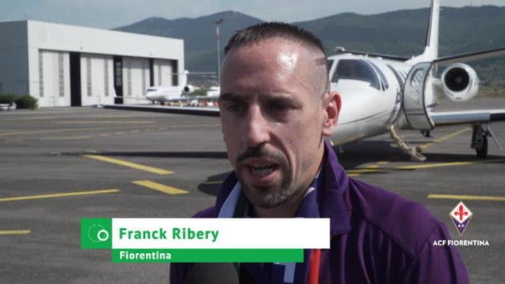 """Ribery: """"Qui con la famiglia. E grazie a Luca Toni..."""""""
