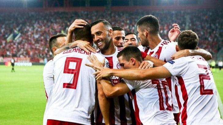 Champions: Olympiacos a valanga, ipotecata la qualificazione ai gironi