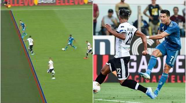 Ronaldo,gol annullato dal Var: il fuorigioco è millimetrico!