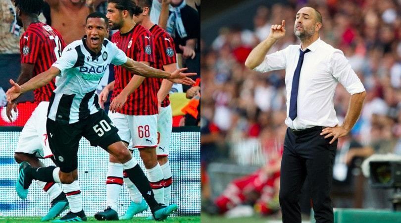 Udinese-Milan, Becao regala la vittoria a Tudor
