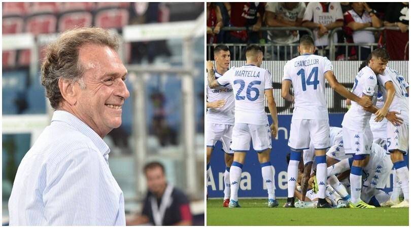 Cellino torna a Cagliari, Donnarumma lancia il Brescia