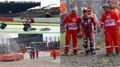 Dovizioso, incidente pauroso a Silverstone! La Ducati va in fiamme