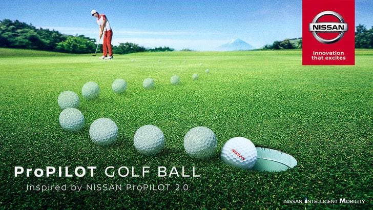 Nissan, ora anche la pallina da golf ProPILOT