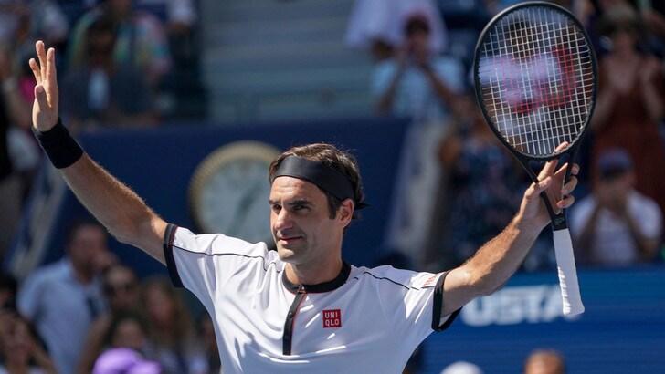 Us Open, tutto facile per Federer: è agli ottavi