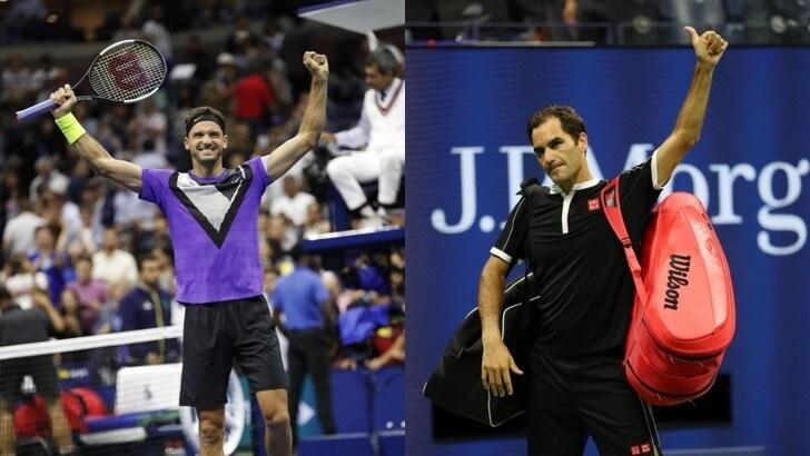 Us Open: Federer eliminato, in semifinale ci va Dimitrov