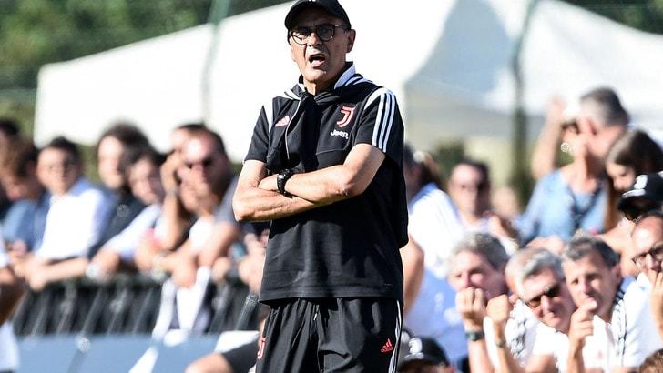 Juve, Sarri è tornato: ha diretto parte dell'allenamento