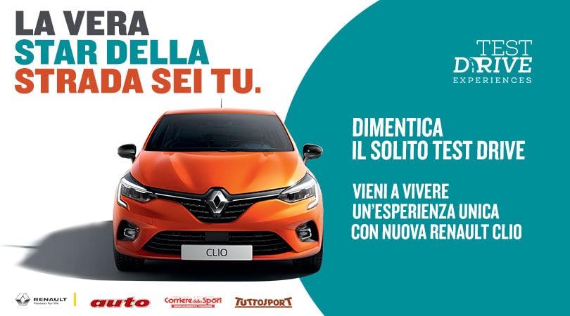 Test Drive Experiences: la vera star della strada sei tu con Nuova Renault CLIO