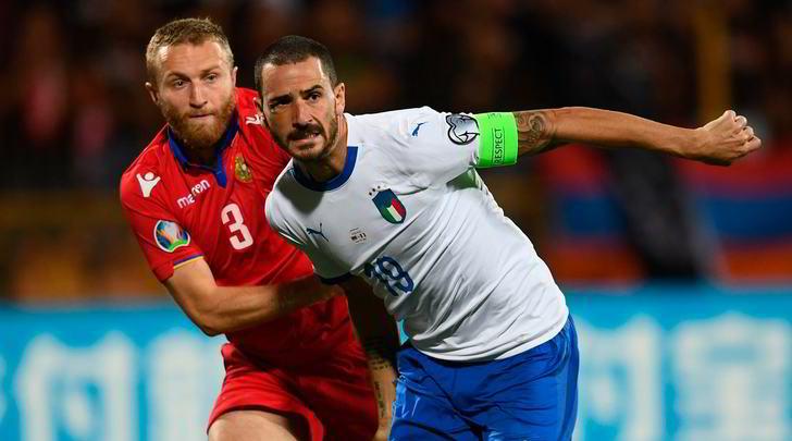 Italia, Bonucci record: raggiungerà Del Piero con 91 presenze