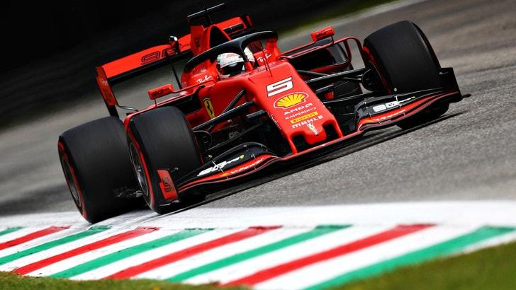 Gp d'Italia, Vettel vola nelle terze libere