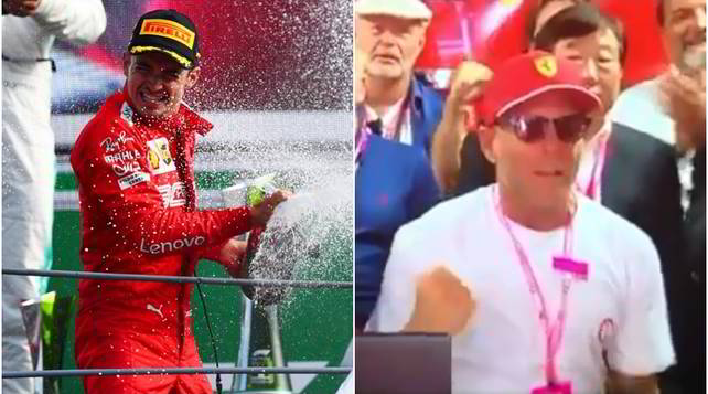 Leclerc trionfa a Monza e Lapo si scatenanei box