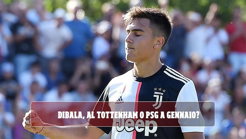 """""""Juve, Dybala: Tottenham e Psg studiano il piano per prenderlo a gennaio"""""""