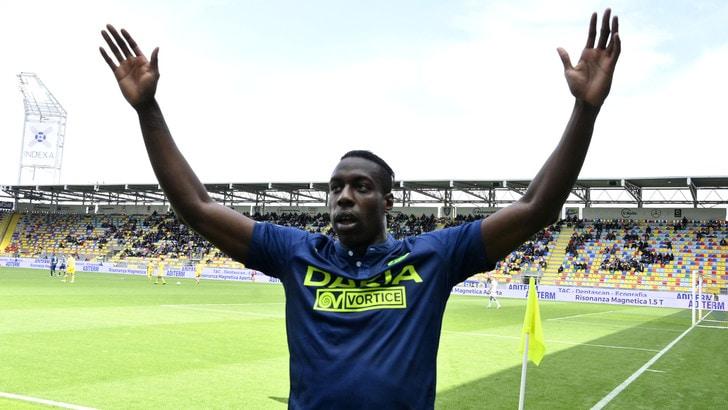 Udinese, la gioia di Okaka: