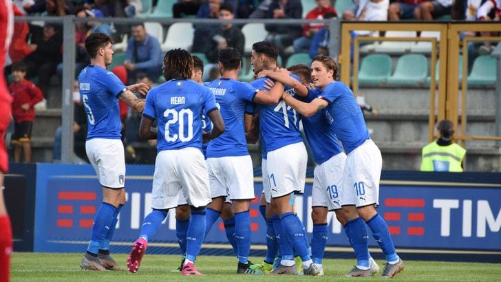Italia-Lussemburgo U21 5-0: Nicolato a valanga, Kean in gol su rigore
