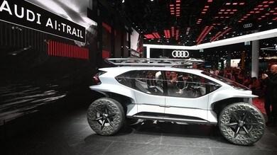Audi AI:TRAIL quattro: l'off road con i droni al posto dei fari