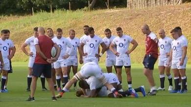 Rugby - Allenamento a prova di Mondiale per l'Inghilterra