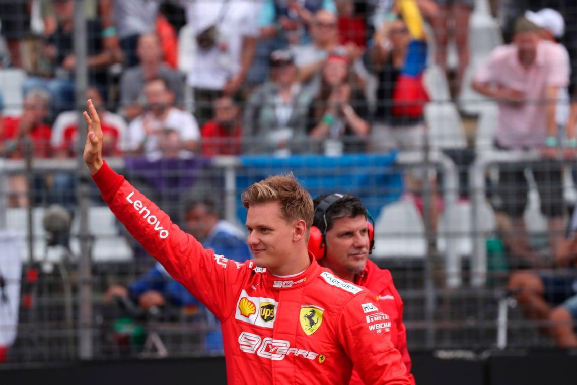Mick Schumacher prova la F8 Tributo a Fiorano