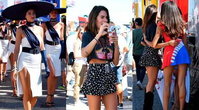 Misano, ombrelline show: c'è anche lady Valentino Rossi