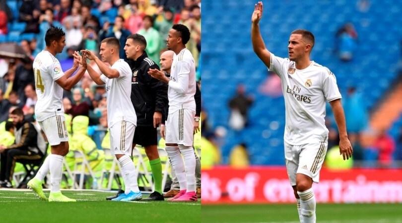 Prima di Hazard nel Real Madrid: applausi del Bernabeu