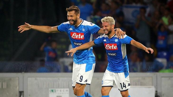Napoli-Sampdoria 2-0, il tabellino