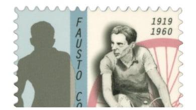 Coppi, un francobollo per ricordare il mito dell'Airone nel centenario della nascita