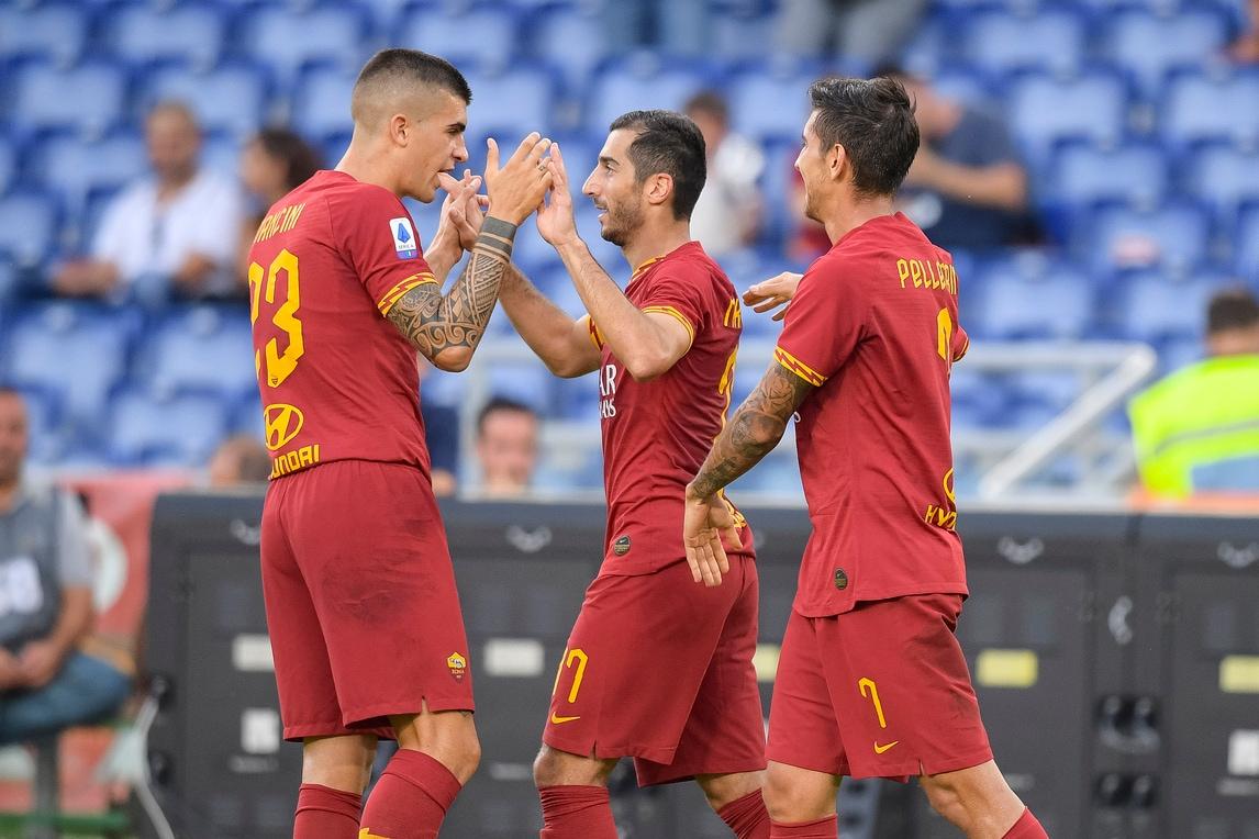 Esordio con gol per Mkhitaryan: poker Roma al Sassuolo