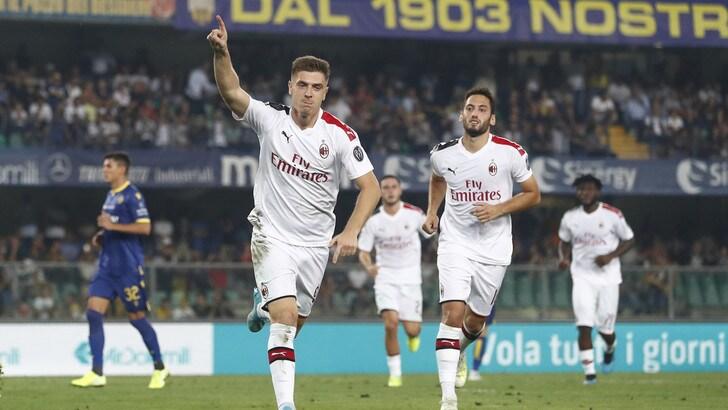 Verona-Milan 0-1, il tabellino