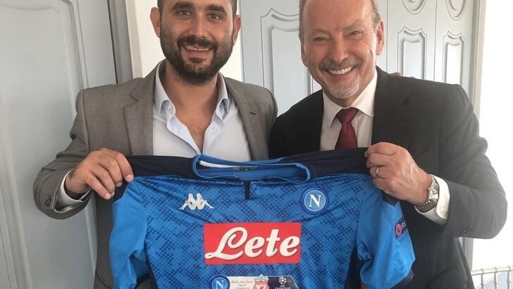 Napoli, pranzo prepartita con il Liverpool